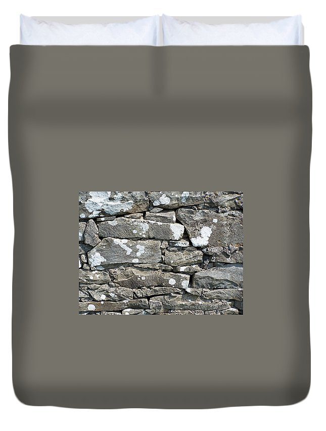Irish Duvet Cover featuring the photograph Stone Wall Detail Doolin Ireland by Teresa Mucha