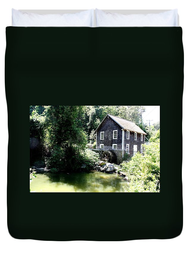 Stony Brook Gristmill & Museum Duvet Cover featuring the photograph Stony Brook Gristmill And Museum by Donna Walsh