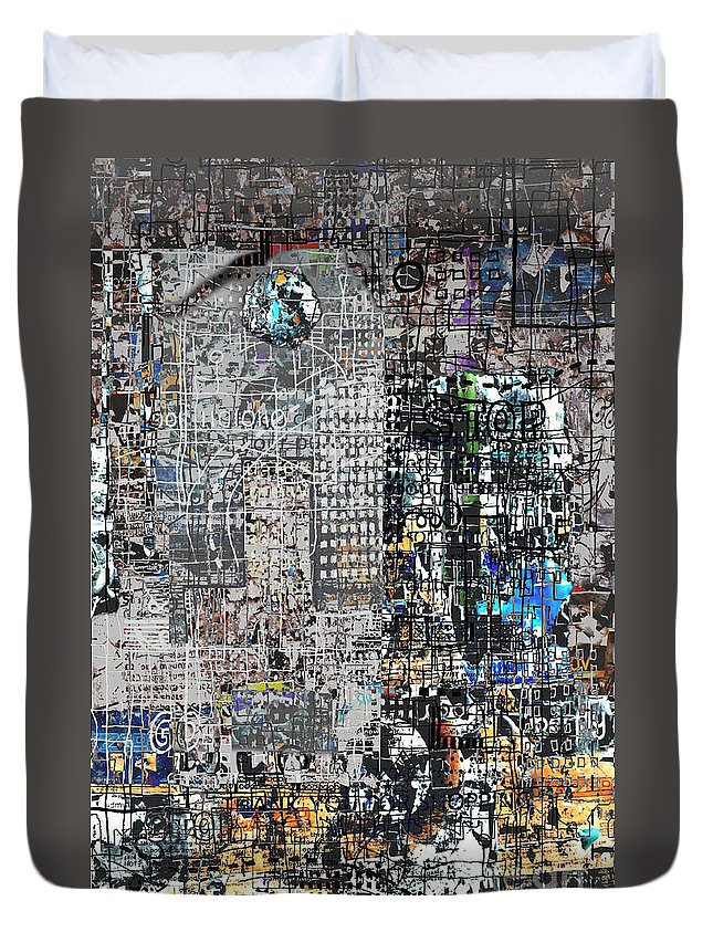 City Duvet Cover featuring the digital art Stop IIi by Andy Mercer