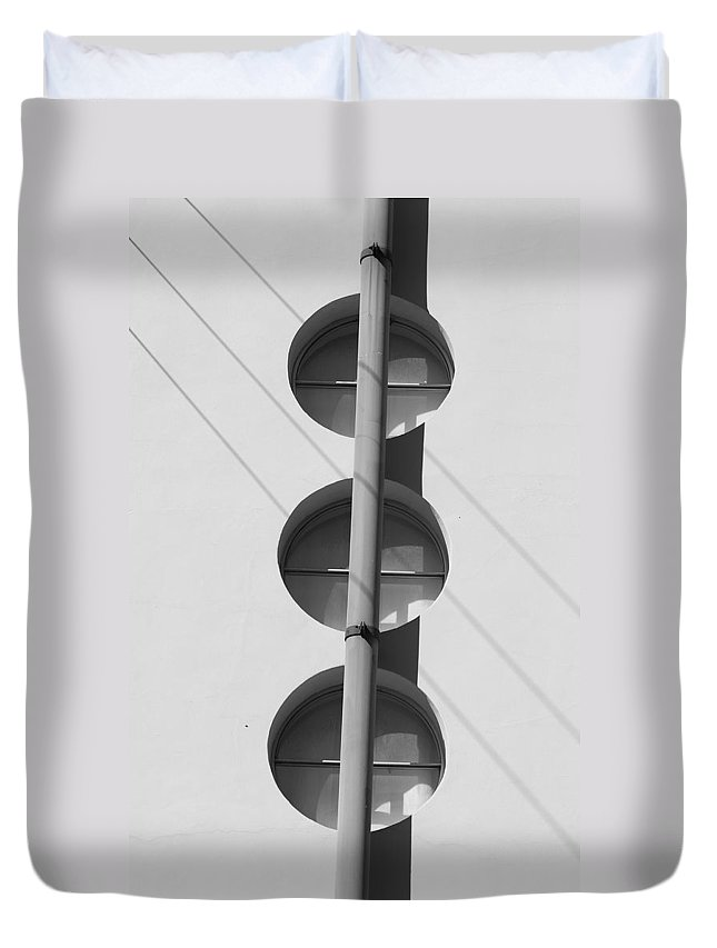 Architecture Duvet Cover featuring the photograph Stop Yield And Go by Rob Hans