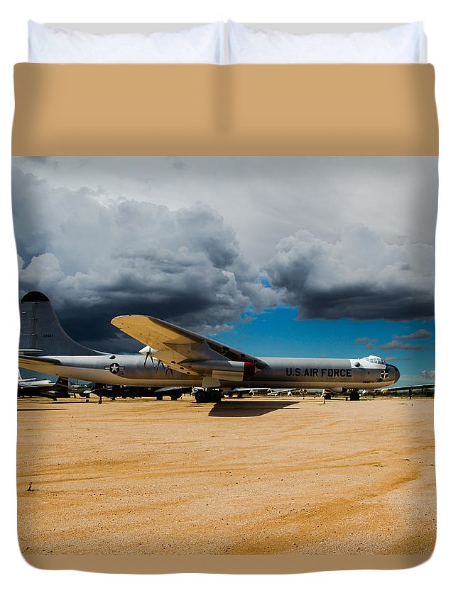Duvet Cover featuring the photograph Storm Approaching by Kevin Mcenerney