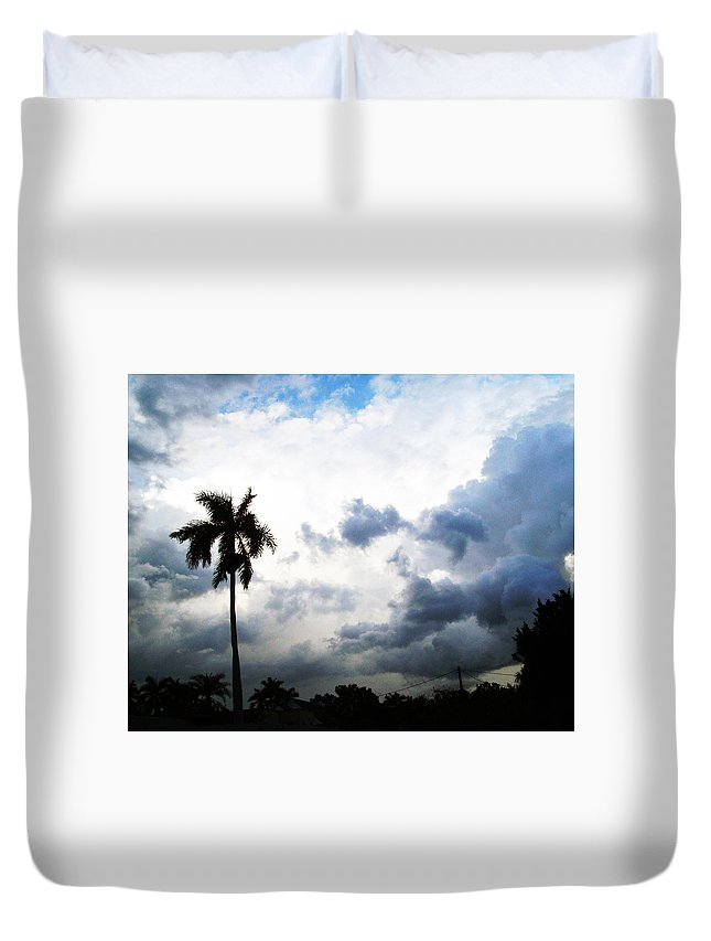 Florida Duvet Cover featuring the photograph Storm Brewing by Chris Andruskiewicz