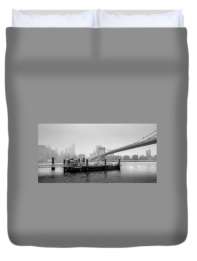Brooklyn Duvet Cover featuring the photograph Storm Brewing Over Brooklyn by Geoff Eccles