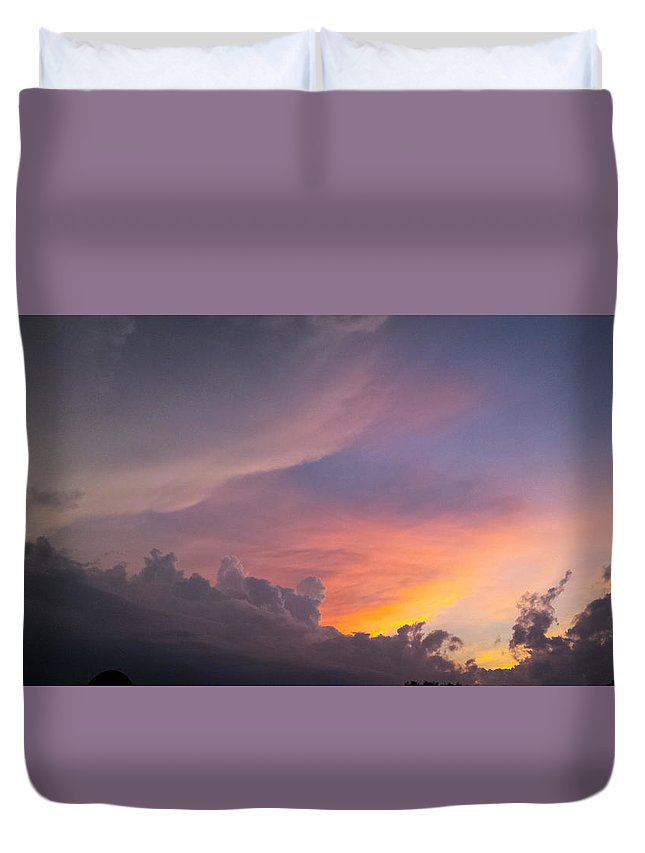 Storm Duvet Cover featuring the photograph Storm Clouds 1 by Jennifer Kohler