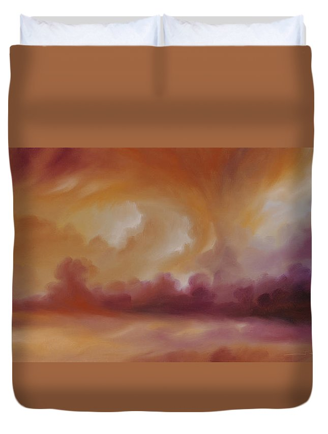 Tempest Duvet Cover featuring the painting Storm Clouds 2 by James Christopher Hill