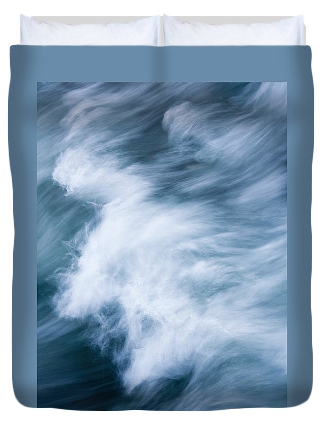 Wave Duvet Cover featuring the photograph Storm Driven by Mike Dawson