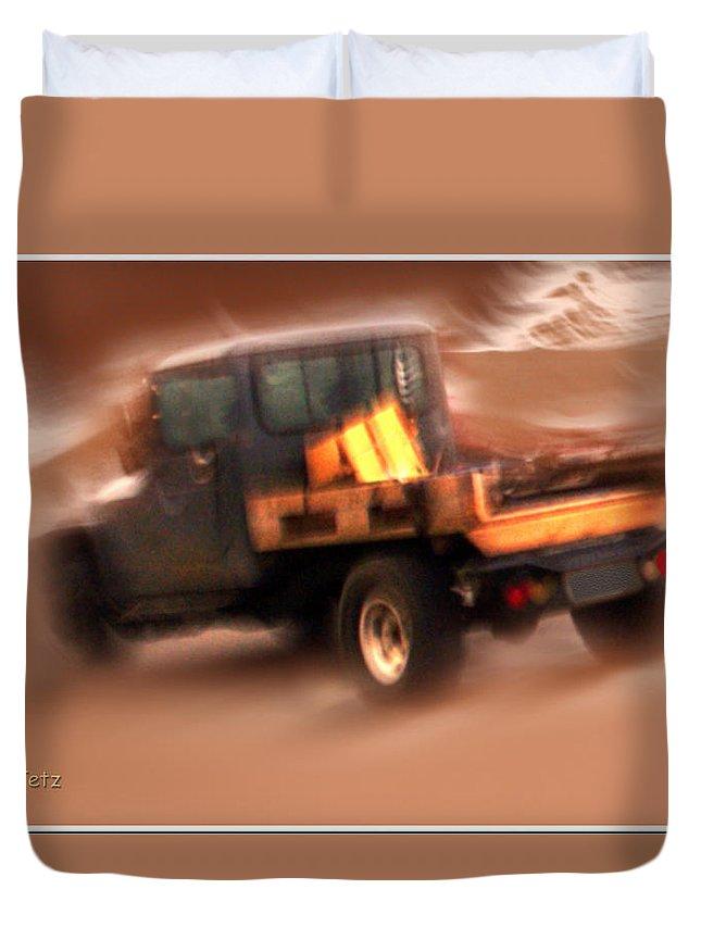 Storm Duvet Cover featuring the photograph Still Truckin' by Gerry Tetz