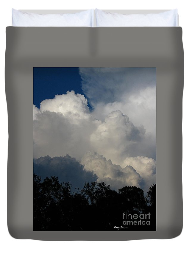 Clouds Duvet Cover featuring the photograph Storm by Greg Patzer