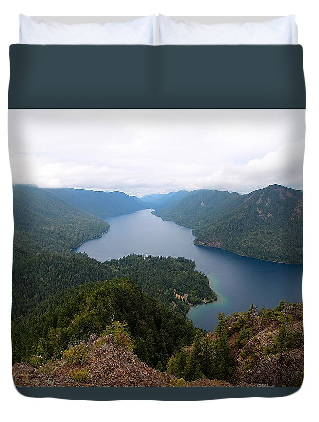 Travel Duvet Cover featuring the photograph Storm King Trail Six by Nicholas Miller