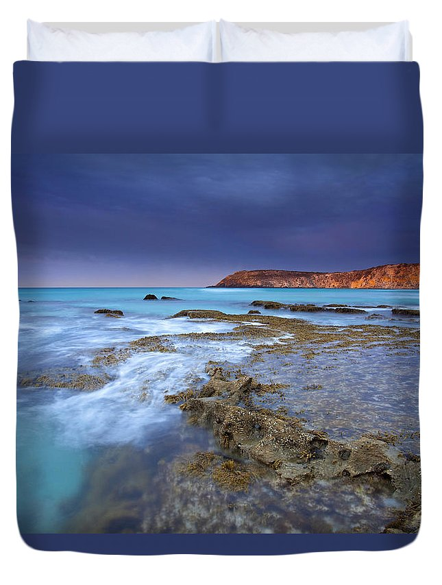 Dawn Duvet Cover featuring the photograph Storm Light by Mike Dawson