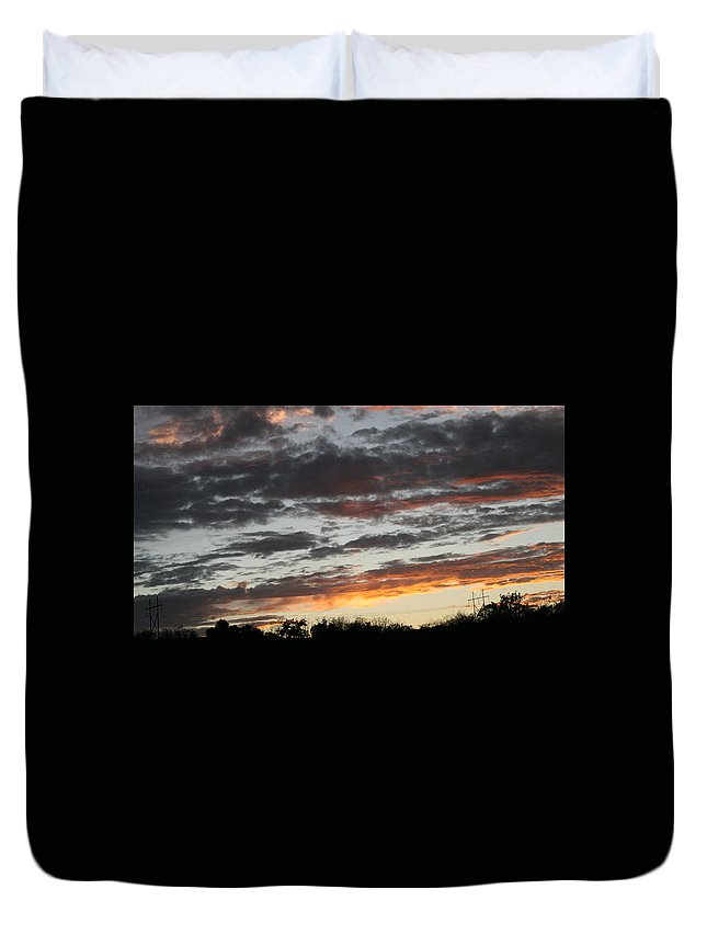 Sunset Duvet Cover featuring the photograph Storm Madness by Lynn Michelle