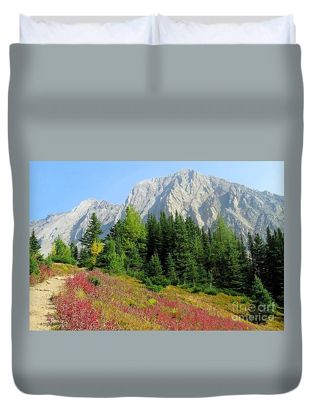 Mountain Duvet Cover featuring the photograph Storm Mountain by Frank Townsley