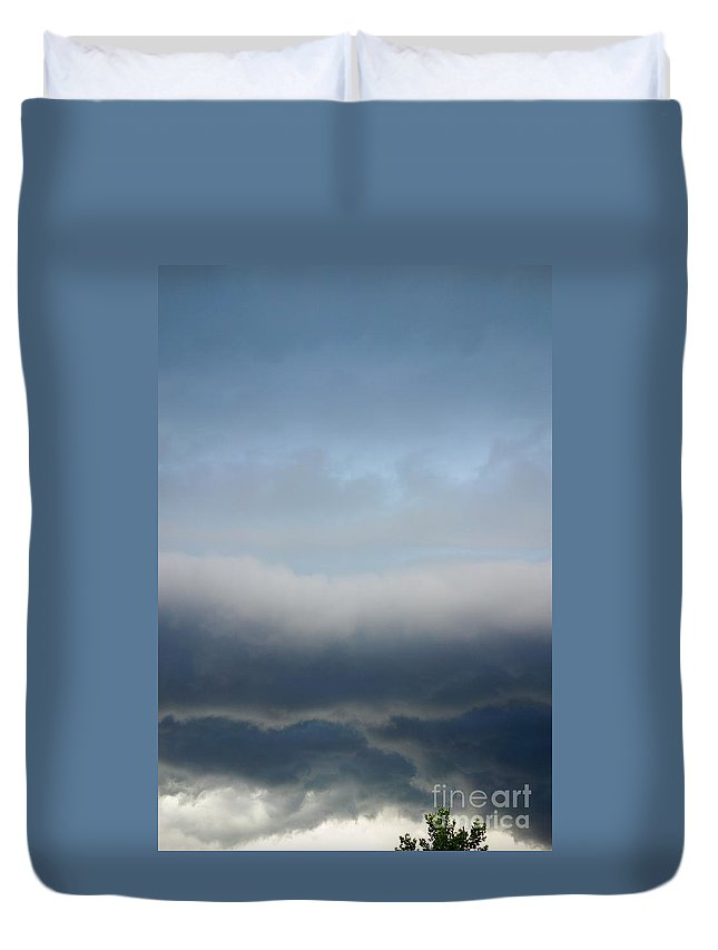 Storm Roll Duvet Cover featuring the photograph Storm Roll by Alice Heart