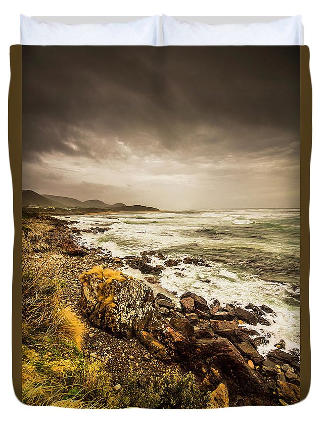 Overcast Duvet Cover featuring the photograph Storm Season by Jorgo Photography - Wall Art Gallery