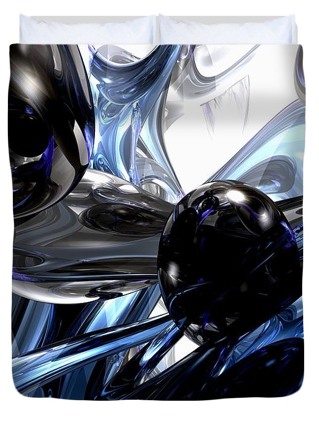 3d Duvet Cover featuring the digital art Storm Shadow Abstract by Alexander Butler
