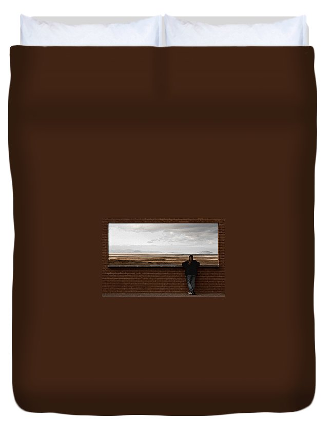 Storm Duvet Cover featuring the photograph Storm View by Scott Sawyer