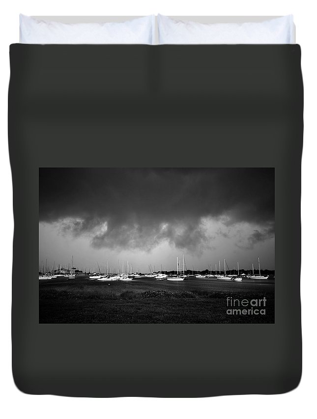 Storm Duvet Cover featuring the photograph Storm Warning by David Lee Thompson