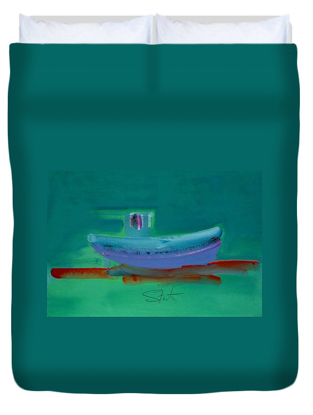 Deep Duvet Cover featuring the painting Stormbringer by Charles Stuart