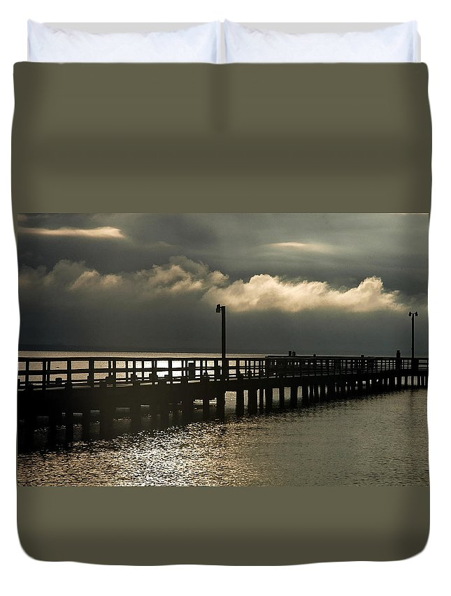 Clay Duvet Cover featuring the photograph Storms Brewin' by Clayton Bruster