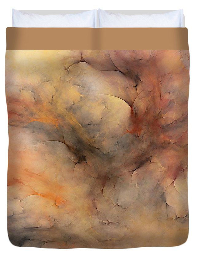 Abstract Duvet Cover featuring the digital art Stormy by David Lane