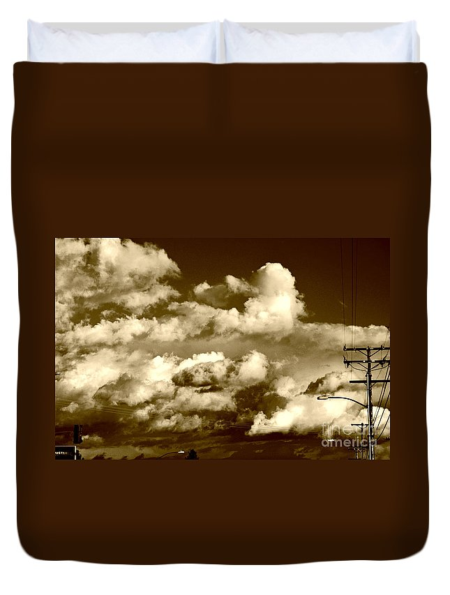 Clay Duvet Cover featuring the photograph Stormy Skies In Socal by Clayton Bruster