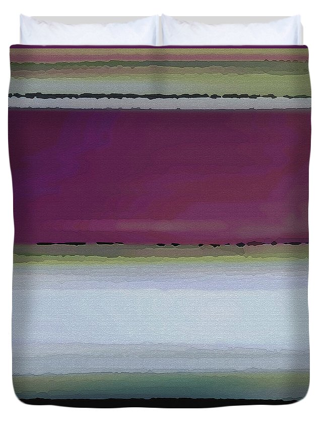 Abstract Duvet Cover featuring the digital art Straight Across by Ruth Palmer