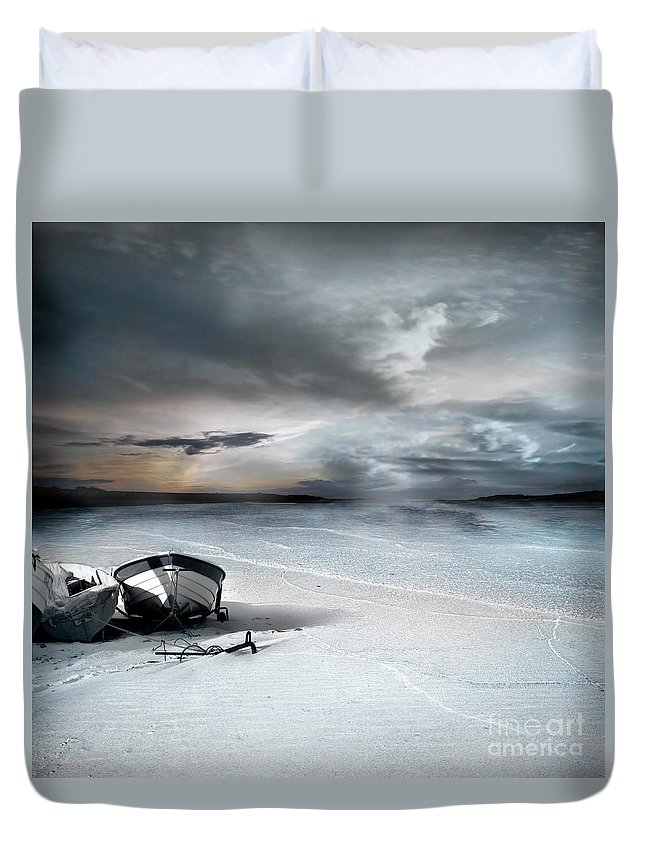 Water Duvet Cover featuring the photograph Stranded by Jacky Gerritsen