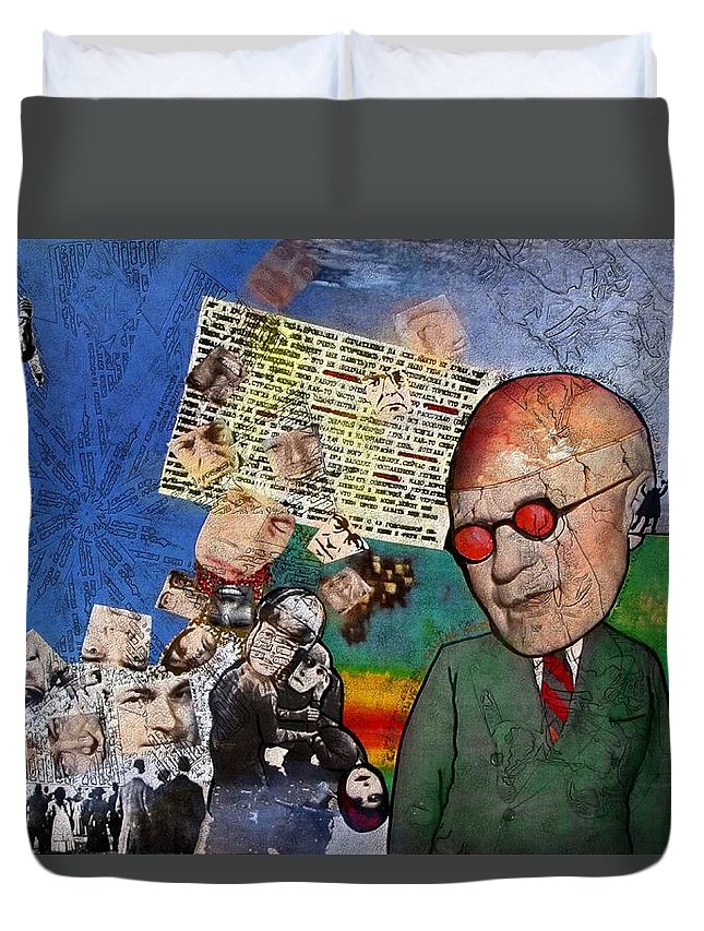 Collage Duvet Cover featuring the digital art Strange How These Mortals So Loudly Complain Of The Gods by Veronica Jackson