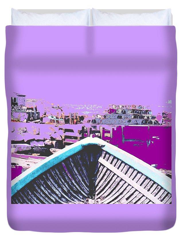 Nova Scotia Duvet Cover featuring the photograph Strange Voyage by Ian MacDonald
