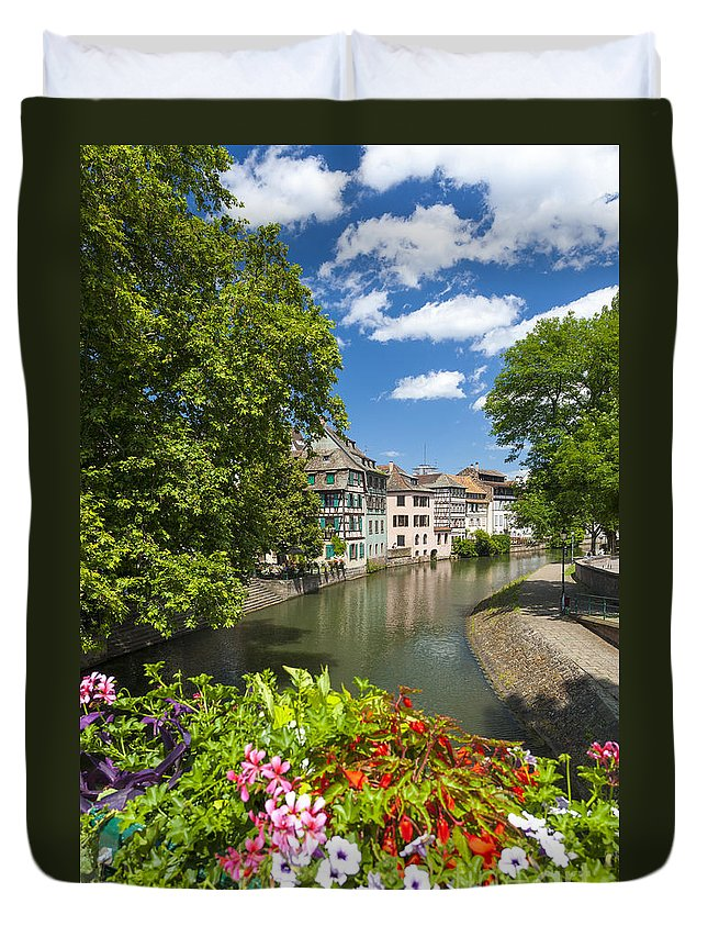 Alsace Duvet Cover featuring the photograph Strasbourg, Half-tmbered Houses, Petite France, Alsace, France by Marco Arduino