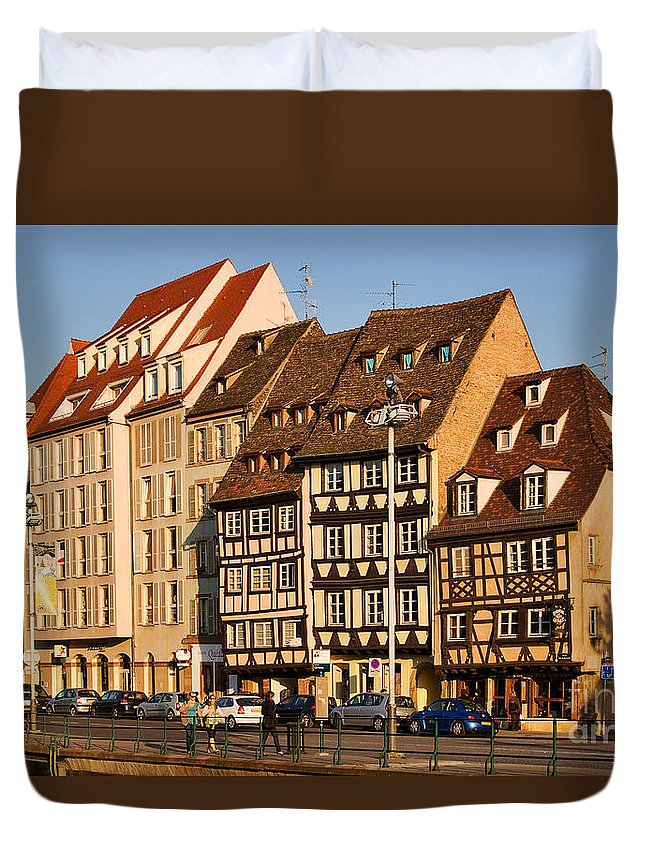 Travel Duvet Cover featuring the photograph Strasbourg by Louise Heusinkveld