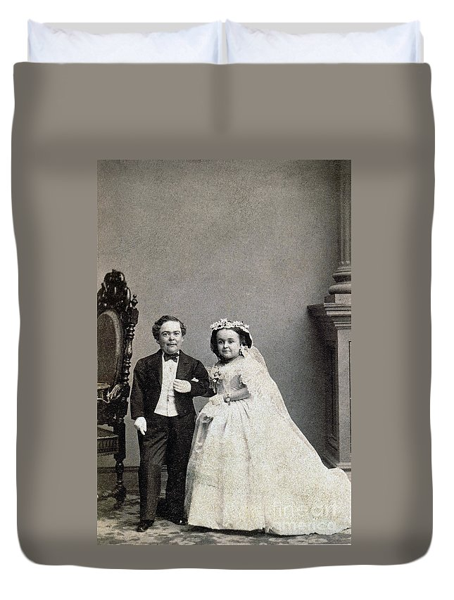 1863 Duvet Cover featuring the photograph Stratton: Gen. Tom Thumb by Granger