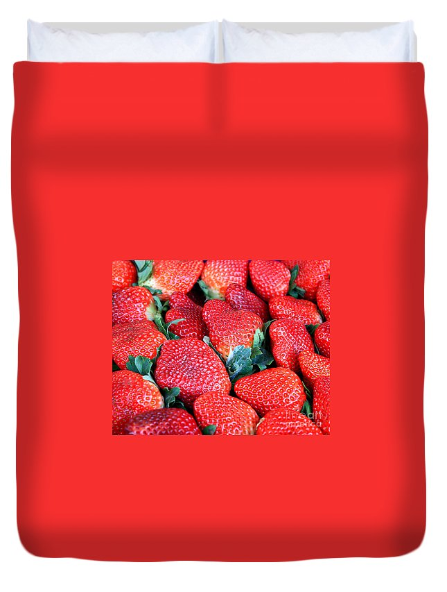 Strawberries Duvet Cover featuring the photograph Strawberries 8 X 10 by Carol Groenen