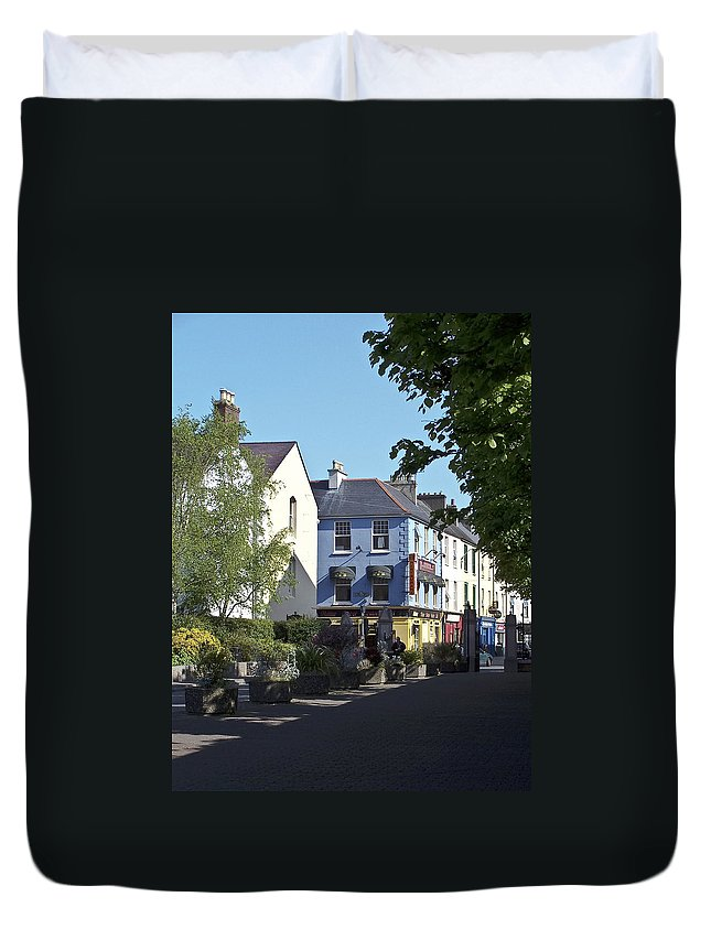 Irish Duvet Cover featuring the photograph Street Corner In Tralee Ireland by Teresa Mucha