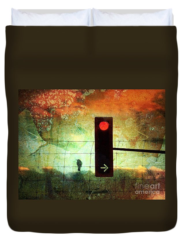 Street Duvet Cover featuring the photograph Street Lights And Cold Nights by Tara Turner