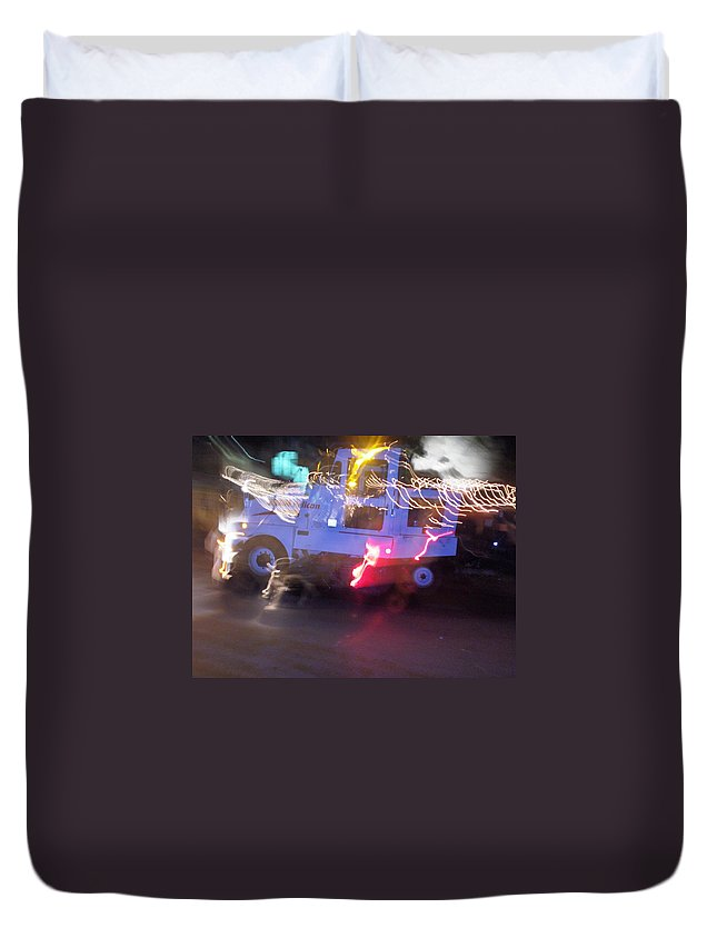 Photograph Duvet Cover featuring the photograph Street Sweeper by Thomas Valentine
