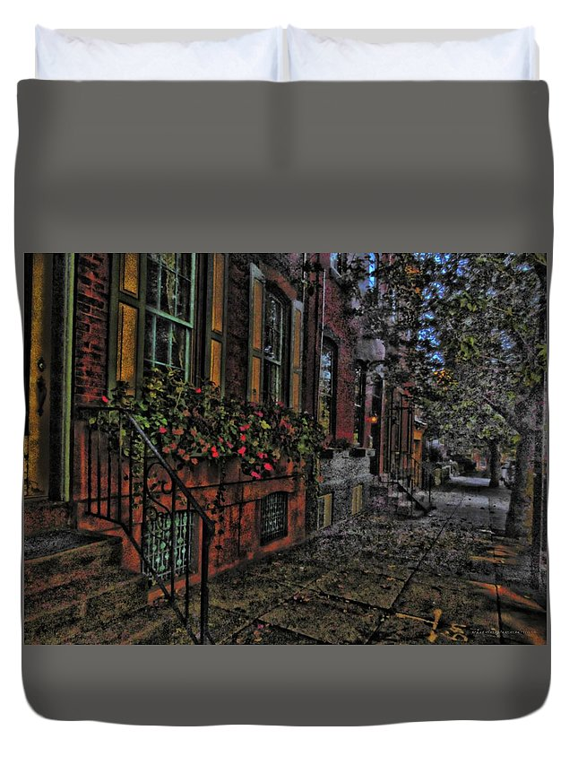 City Duvet Cover featuring the digital art Streets Of Fairmont by Vincent Green