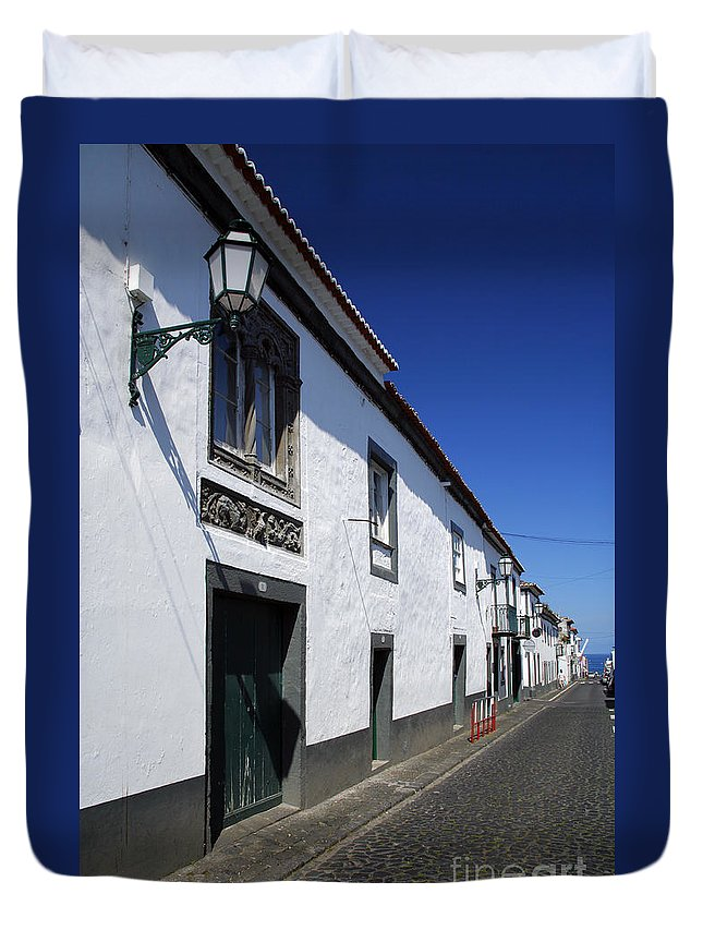 Portugal Duvet Cover featuring the photograph Streets Of Ribeira Grande by Gaspar Avila