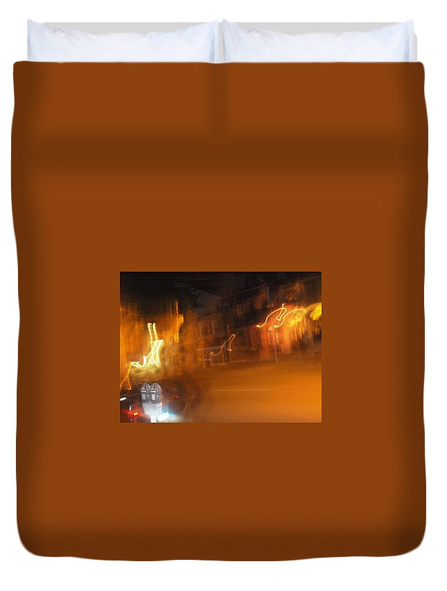 Photograph Duvet Cover featuring the photograph Streets On Fire by Thomas Valentine