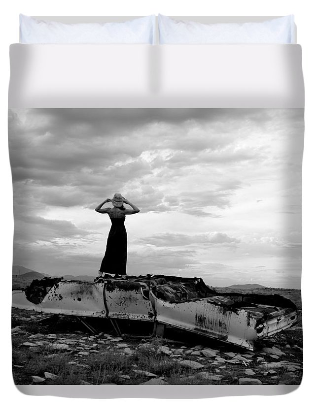 Storm Clouds Duvet Cover featuring the photograph Strength by Scott Sawyer