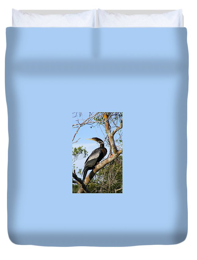 Bird Duvet Cover featuring the photograph Strike A Pose by Ed Smith