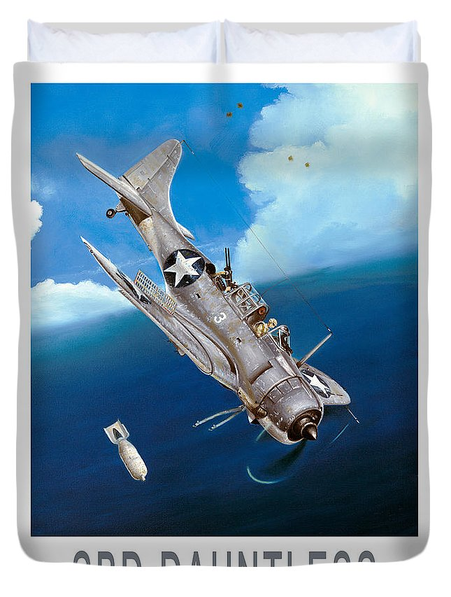 Dauntless Duvet Cover featuring the painting Strike On The Shirakumo by Marc Stewart