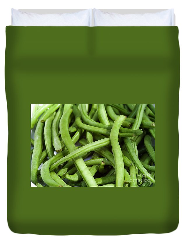 Beans Duvet Cover featuring the photograph String Beans by Michal Boubin