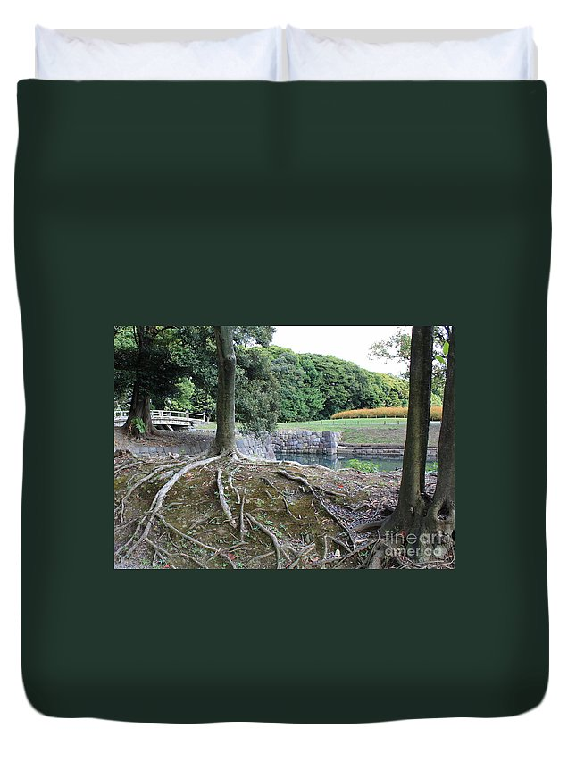 Japan Duvet Cover featuring the photograph Strong Roots In Japan by Carol Groenen