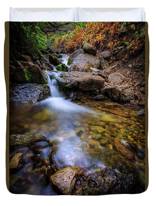Trailsxposed Duvet Cover featuring the photograph Strongs Canyon by Gina Herbert