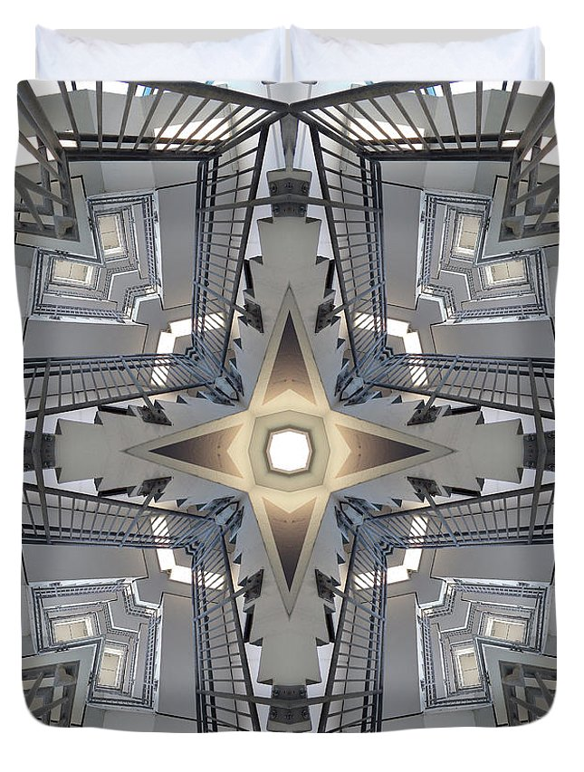 Stairs Duvet Cover featuring the digital art Structure Of Stairs by Phil Perkins