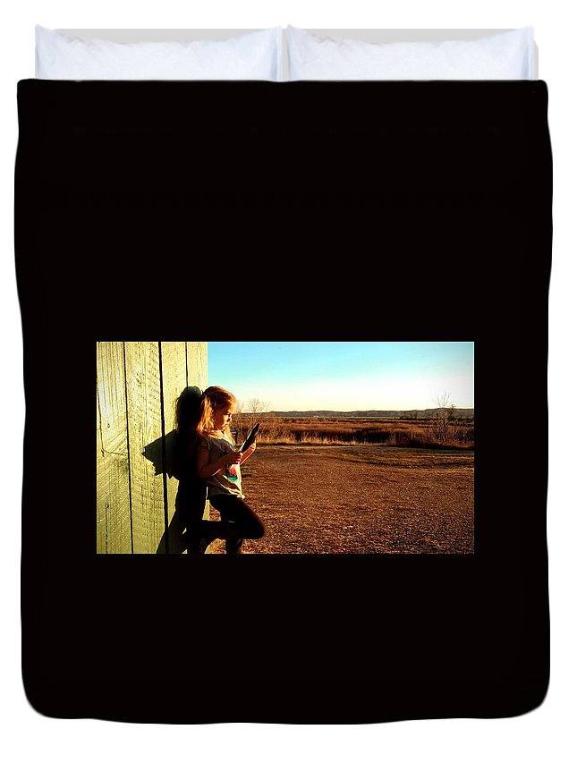Rural Duvet Cover featuring the photograph Study by Justin Parkinson