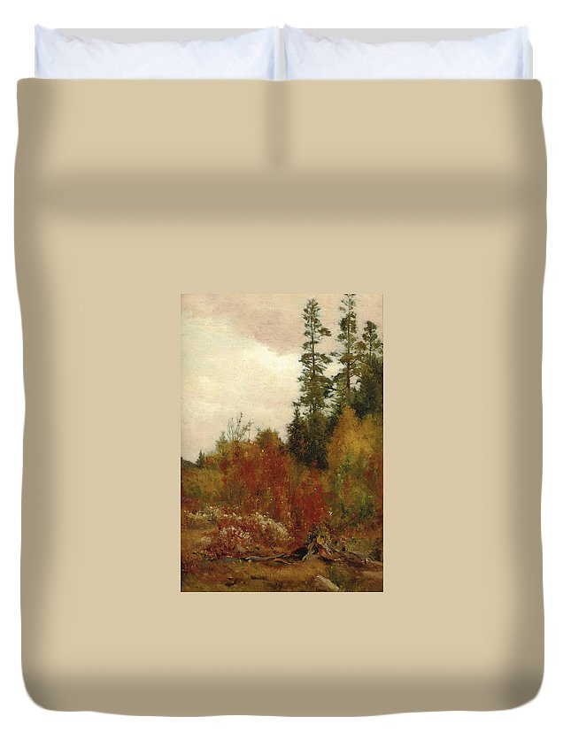 Jervis Mcentee Duvet Cover featuring the painting Study Near Schulls by Jervis McEntee