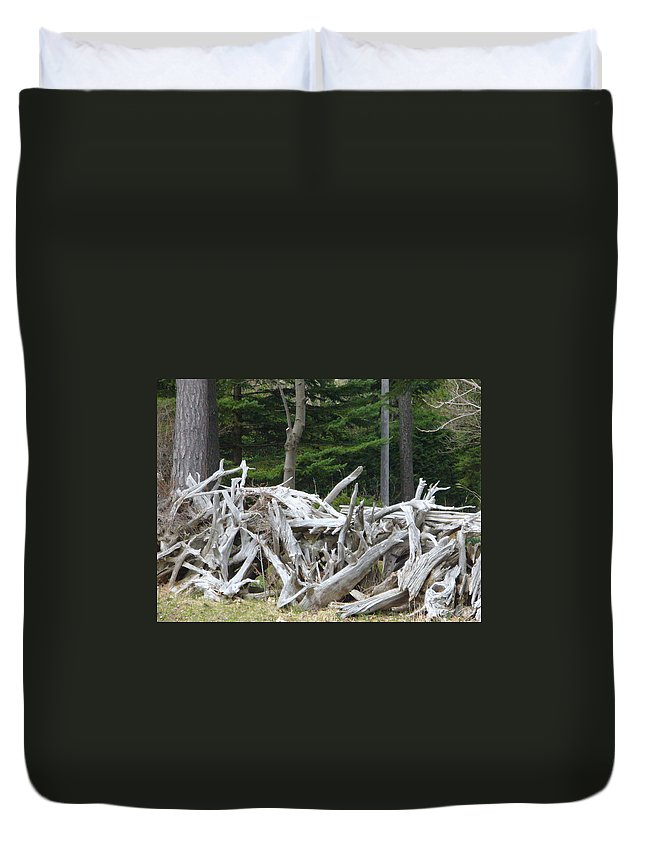 Stump Duvet Cover featuring the photograph Stumped by Peggy King