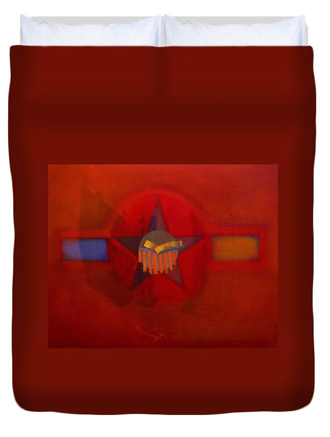 Warm Duvet Cover featuring the painting Sub Decal by Charles Stuart